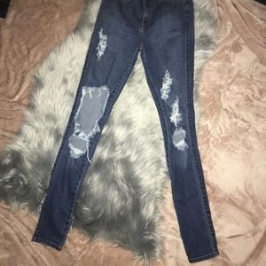 High-waisted FashionNova Jeans